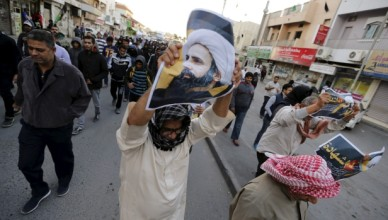 Bahrain police use water cannons, birdshot at Nimr al-Nimr execution protest