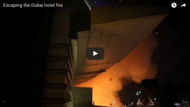 Fire in Dubai 2015