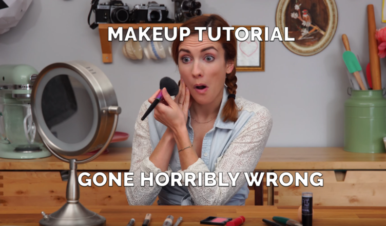 MAKEUP TUTORIAL GONE HORRIBLY WRONG (funny)
